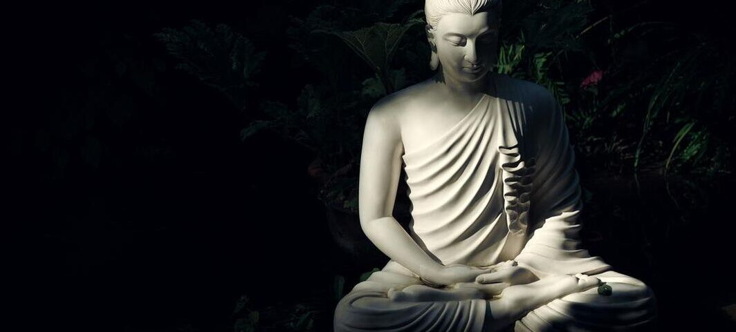buddha meditating on death and will use analytical meditation to process it